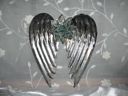 metal angel wings wall decor rustic gift large
