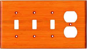 bamboo mandarin orange switch plates 3 toggle duplex combo