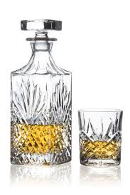 brilliant ashford lead free crystal 5 piece whisky set whisky decanter and whisky glasses