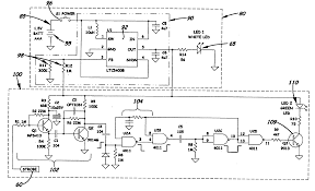 patent us combination voltage detector and led flashlight patent drawing