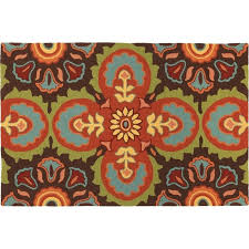 tile chocolate area rug solid brown 8x10
