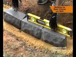 Small Picture How to Build a Small Retaining Wall YouTube