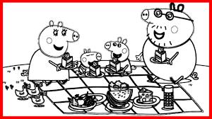 Small Picture Peppa Pig En El Picnic Pginas Para Colorear Dibujo Peppa Y