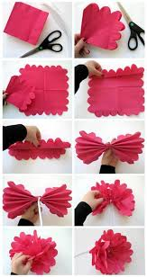 Tissue Paper Flower Ideas Diy How To Make A Flower Out Of Paper Napkin Tissue Paper