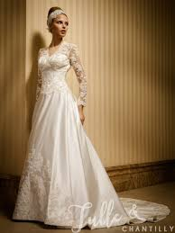 morning classic a line vintage wedding dress with sleeves tbqw036