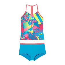 Amazon Com Nike Kids Girls T Back Tankini Set Big Kids