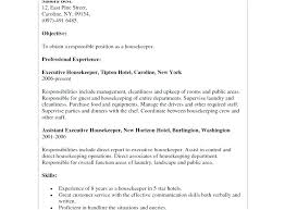 Executive Housekeeper Resume Professional Housekeeper Resume Resume