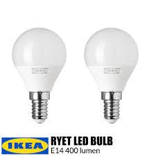 Ikea Ryet Led Bulb E14 400 Lumen Globe Opal White