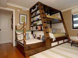 bunk bed with desk underneath with huge design