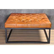 Image Chesterfield Trever Modern Coffee Table Wayfair Genuine Leather Coffee Table Wayfair