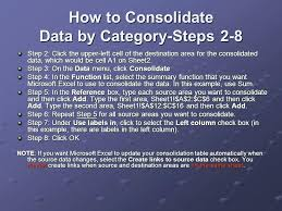 Consolidate Data In Excel How To Merge Worksheets Workbooks Into ...