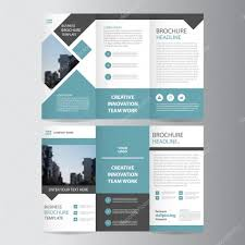 presentation template designs blue vector trifold annual report leaflet brochure flyer template