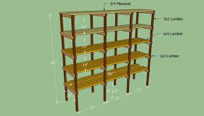 diy wood storage shelf plans
