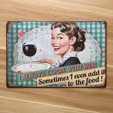 metal tin signs wall art painting cook with wine vintage kitchen poster retro home on retro kitchen metal wall art with metal tin signs wall art painting cook with wine vintage kitchen