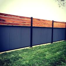 corrugated metal fence best yard images on corrugated metal fencing panels fence aluminum corrugated metal privacy