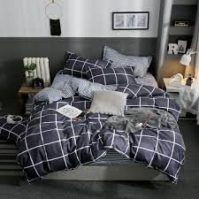 new classic plaid bedding set modern
