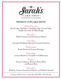 Cupcakes Sarahs Cake Shop Chesterfield Mo