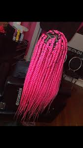 Pin by Audri Harris on Hair | Pink box braids, Box braids styling, Colored  box braids