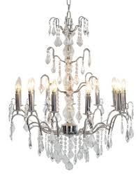 12 arm french chrome chandelier
