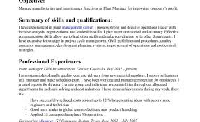 Plant Superintendent Resume Production Supervisor Resume For A Job Of Your 24 shalomhouseus 1