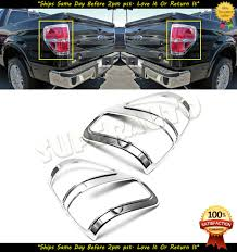 Ford F150 Light Covers Details About Chrome Tail Light Covers For 2009 2010 2011 2012 2013 2014 Ford F 150 F150