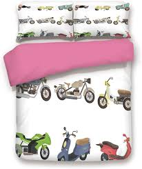 Amazon.com: Zimmer Motorcycle 3D Duvet Cover Set Collection of Different  Type of Sport Motorbike Icons Diverse Vehicle in Faded Colors Bedding Set  Queen,for Children Adult Room Decor Multi: Home & Kitchen