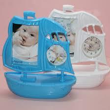 boat shaped photo frame clock image