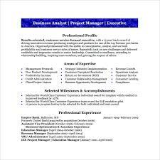 Business Analyst Resume Sample Magnificent 60 Sample Business Analyst Resumes Sample Templates