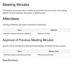 Minutes Of The Meeting 13 Meeting Minutes Templates To Help You Ace Your Nonprofit
