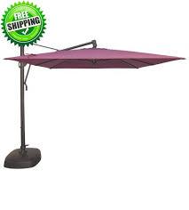 cantilever patio sunbrella treasure garden 10 foot square cantilever patio umbrella