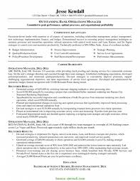 Trending Bank Operations Manager Resume Sample Best Operations