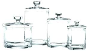 s glass jar canisters canister set
