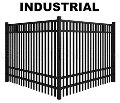 Metal fence design Residential Industrial Fence Style Smooth Top Design Greatfencecom Aluminum Fence Designs Greatfencecom