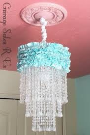 homemade chandelier diy hula hoop crystal chandeliers