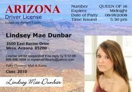 Driver's Personalized And Invitations Announcements Birth License