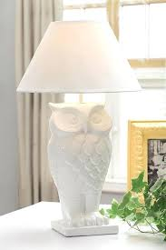 white ceramic owl white owl lamp white ceramic owl decor