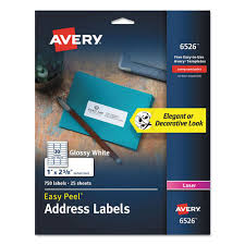 avery 1 x 2 5 8 template glossy white easy peel mailing labels w sure feed laser 1 x 2 5 8 750 pk