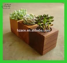 Small wooden plant pot Small wooden planter Succulent planter