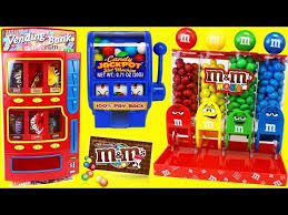 Chocolate Vending Machine Toy Awesome Green Lady MM's Candy Gumball Dispenser Machine Review Gumball