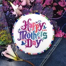 Mother Day Chart Amazon Com Happy Mothers Day Cross Stitch Pattern Chart