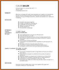 Logistics Administrator Sample Resume