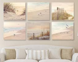 coastal wall art shabby chic beach decor set of six prints or canvases neutral wall decor rustic beach prints set of coastal wall art on wall art canvas shabby chic with shabby chic beach decor etsy