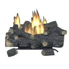 vented gas fireplace logs compressed home depot key glass cleaner canada inserts