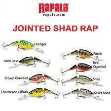 Rapala Shad Rap Dive Chart Rapala Jsr 4 Jsr04 P Perch Shad Rap Jointed 1 1 2 3 16 Oz