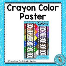 Crayon Color Poster