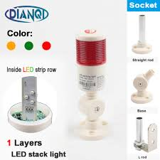 Led Stack Light Bulbs Us 3 73 10 Off Industrial Signal Tower Safety Stack Alarm Light Lamp Bulb Red Green Yellow Lamp Led Strip Plastic 1 Layer With Base 12v 24v In