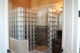 glass block corner shower wall other residential gallery home depot
