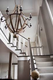 wood sphere chandelier staircase modern with wood chandelier dark wood sphere chandelier