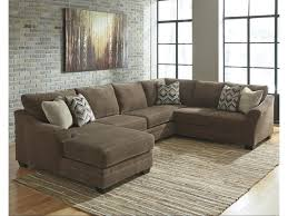 Benchcraft Justyna Contemporary 3-Piece Sectional with Left Chaise ...