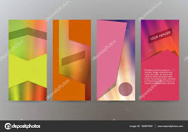 Brochure Cover Pages Set Cover Pages Brochure Background Modern Design04 Stock Vector